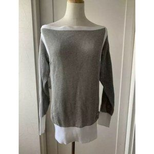 Tagged Chanel Long Sleeve Top Summer Sweater Gray